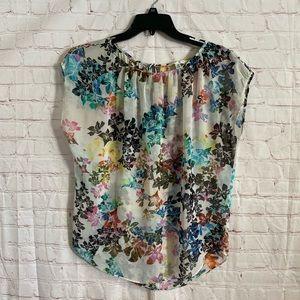cAbi sheer oversized blouse